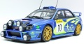 お取り寄せ予約品 5〜7月頃 ミニカー TOPMARQUES (開閉機構なし) レジンモデル  1/18 TOP037C スバル インプレッサ S7 555 WRC No.10 2002 モンテカルロ ナイトバージョン