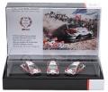 予約品 3月頃 ミニカー LG55(エルジーゴーゴー)TOYOTA GAZOO RACING優勝記念モデル 1/43  TOY14143SC WRC18 TOYOTA YARIS 優勝記念 3台Set