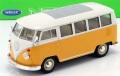 予約品 9月頃より順次 ミニカー WELLY  1/24 WE22095Y VW T1 バス 1963(イエロー) 4548565348411