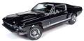 予約品 2020年4月頃 ミニカー American Muscle(アメリカンマッスル) ダイキャストモデル(開閉機構あり) 1/18 AMM1202 1967 シェルビー マスタング GT-350 (MCACN) ブラック 4548565382361