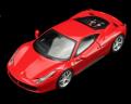 ミニカー True Scale 1/43 10FJ002 フェラーリ 458 イタリア (ROSSO CORSA) レッド