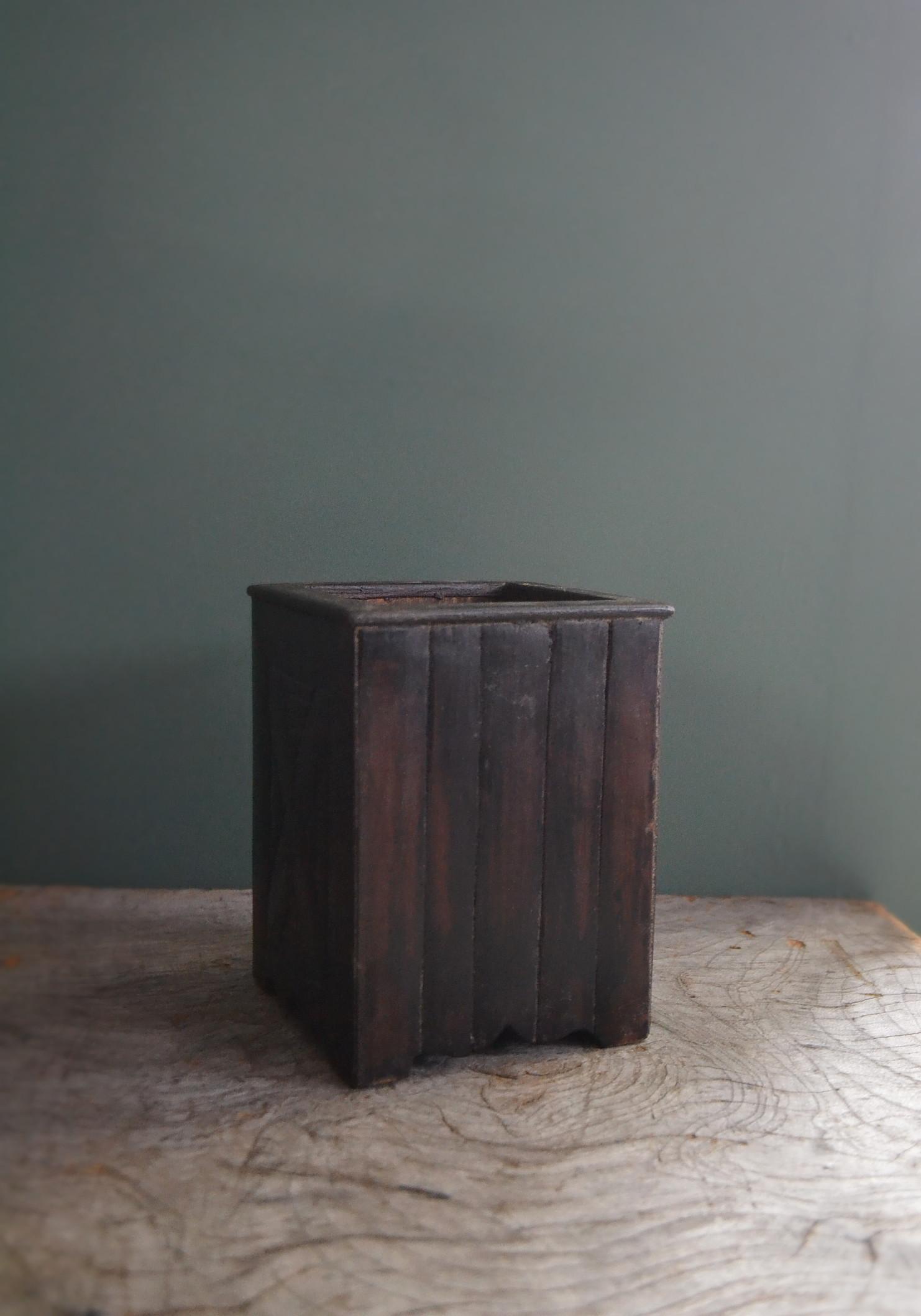 朝鮮骨董 筆筒 木製 李朝