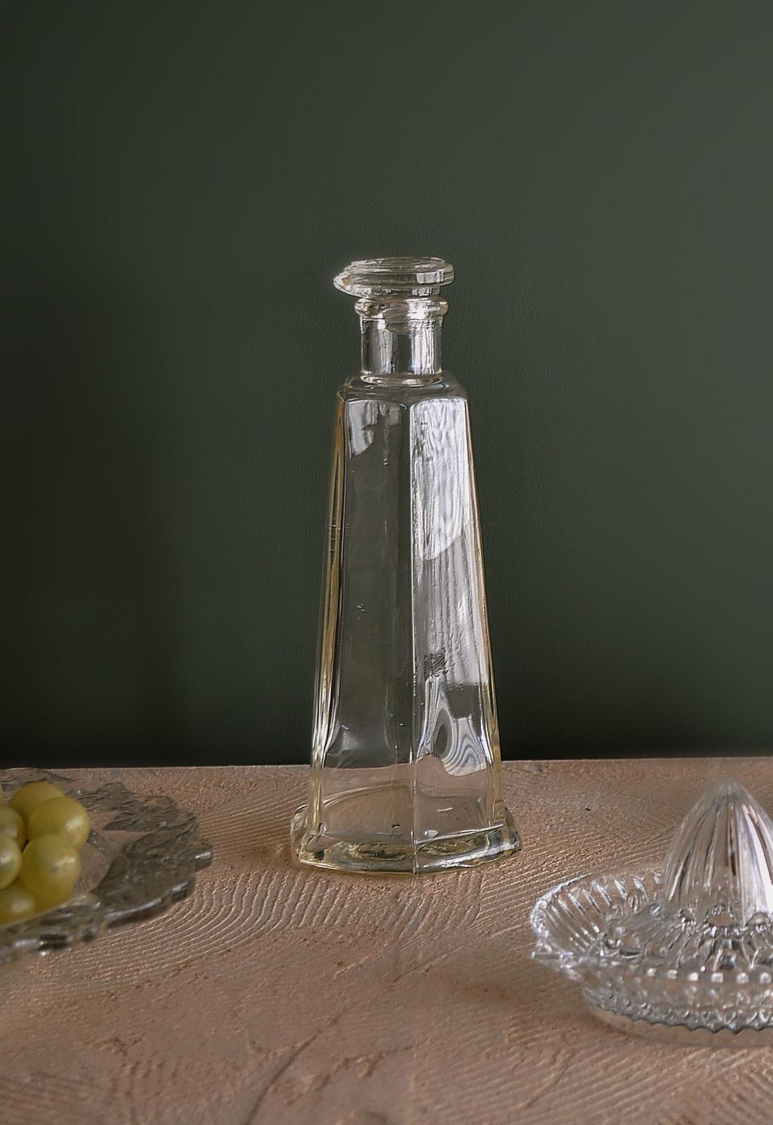 ガラスの大きな醤油さし ガラス花入れ ガラス瓶