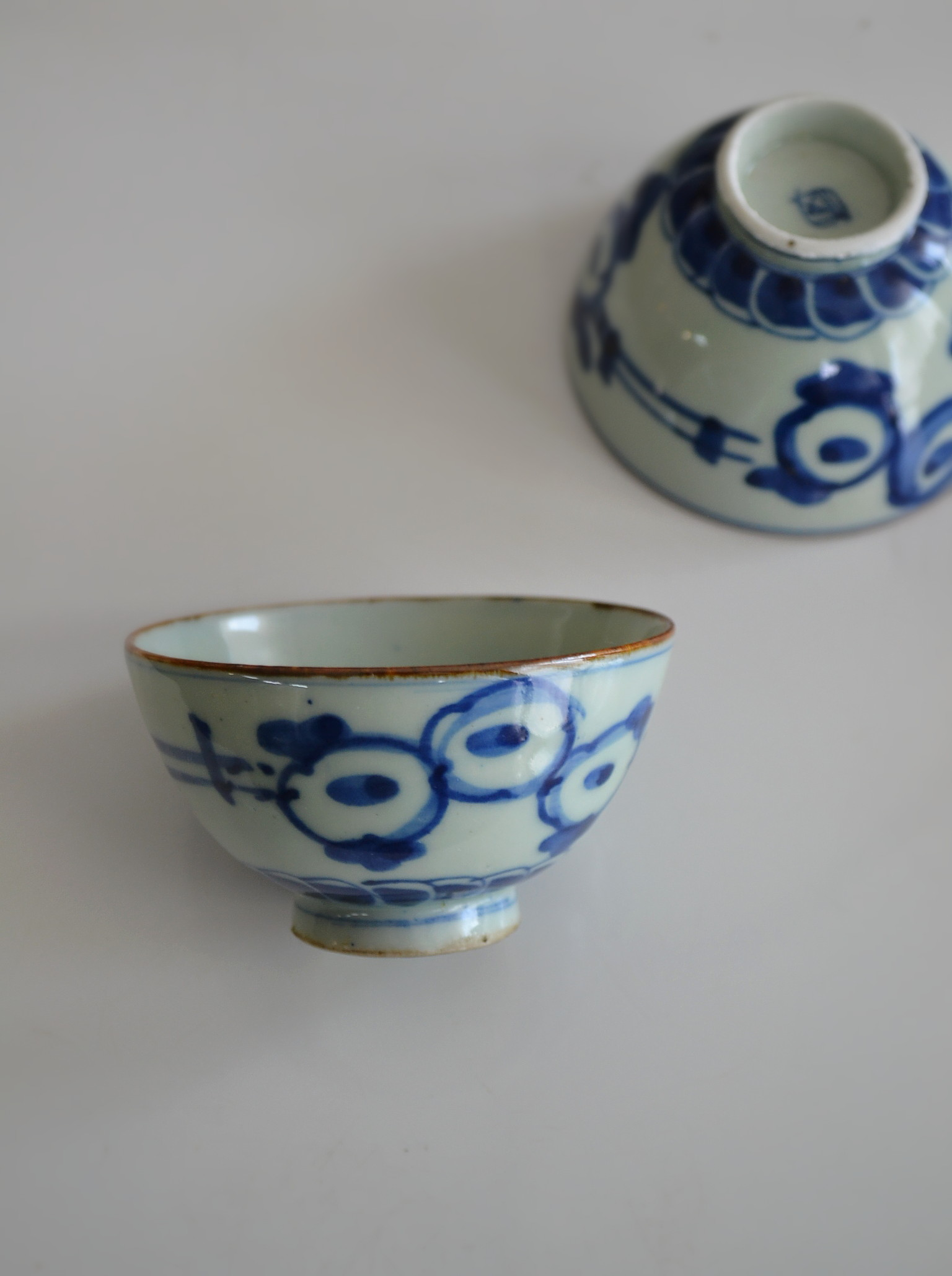 染付手描き煎茶茶碗