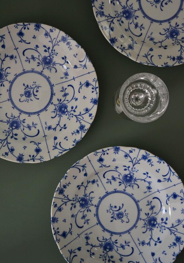 昭和レトロ ブルーコペン プレート パスタ皿カレー皿