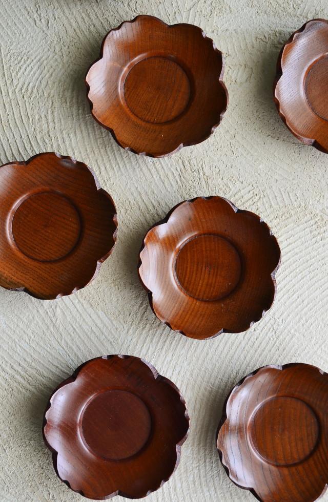 木製茶托 桜 一枚