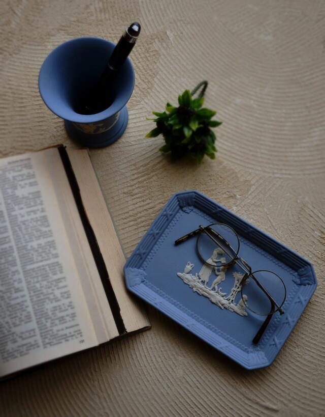 ウエッジウッド ペン皿とペン立てセット