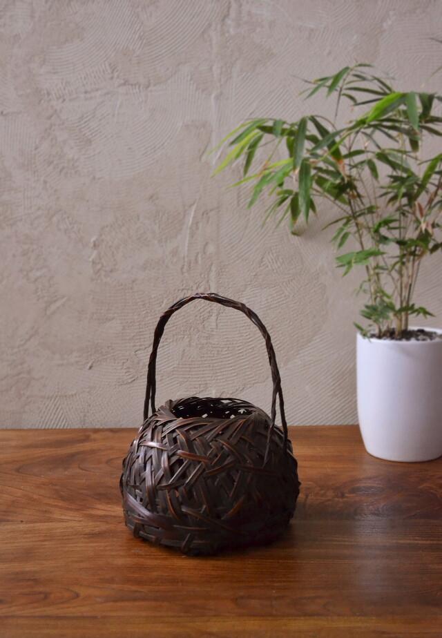 竹編み花籠