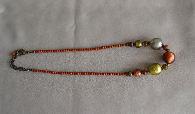 ベネチアン3色カラーのネックレス