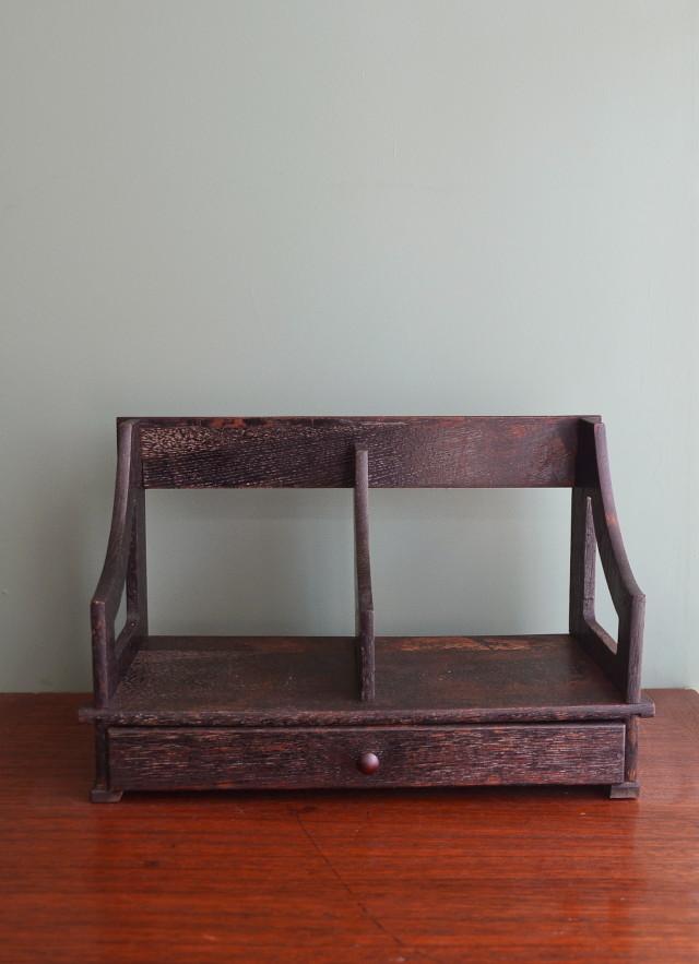 ブックスタンド 卓上本棚 本立て 昭和レトロ