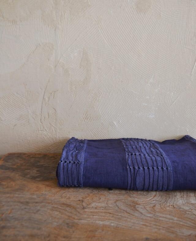 アフリカ布 ベッドカバー フットスロー