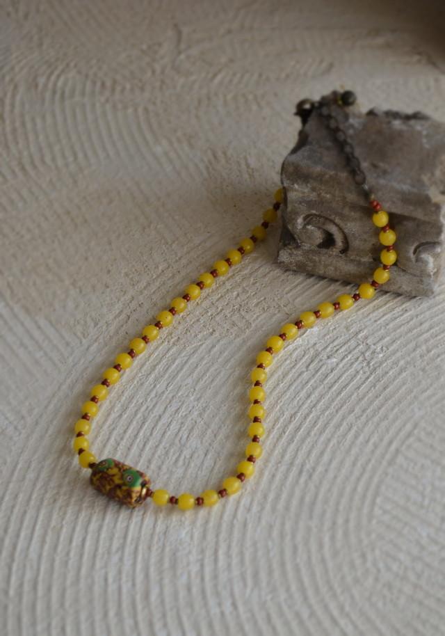 アンティーク蜻蛉玉 乾隆玉連ネックレス