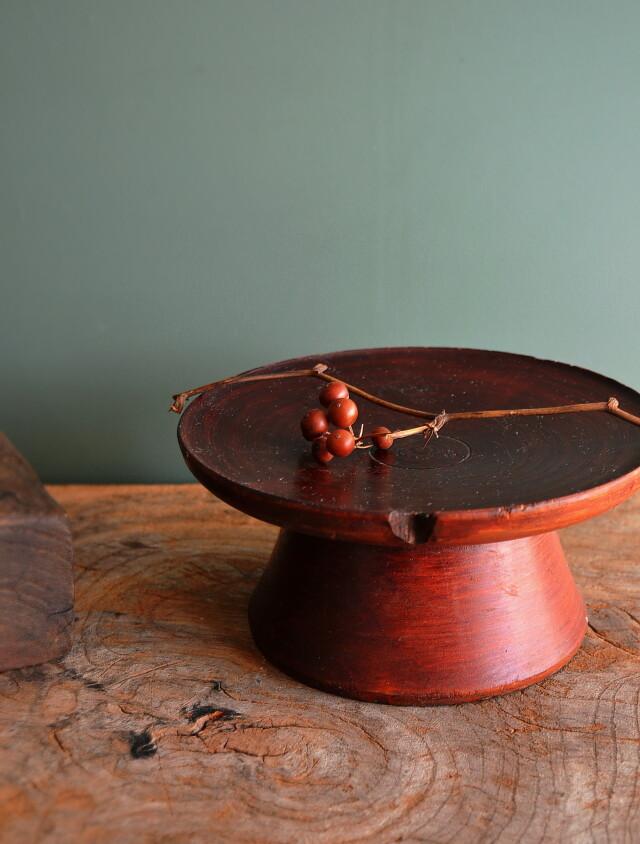 李朝 大木台 祭器 高月 菓子皿 直径177mm