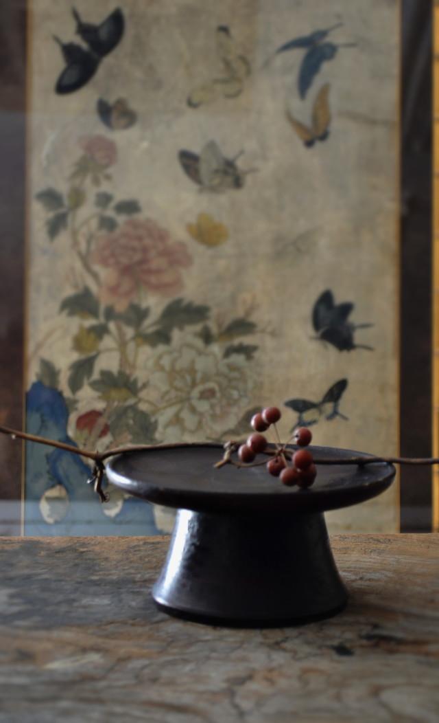 李朝 木台 祭器 高槻 菓子皿 直径157mm