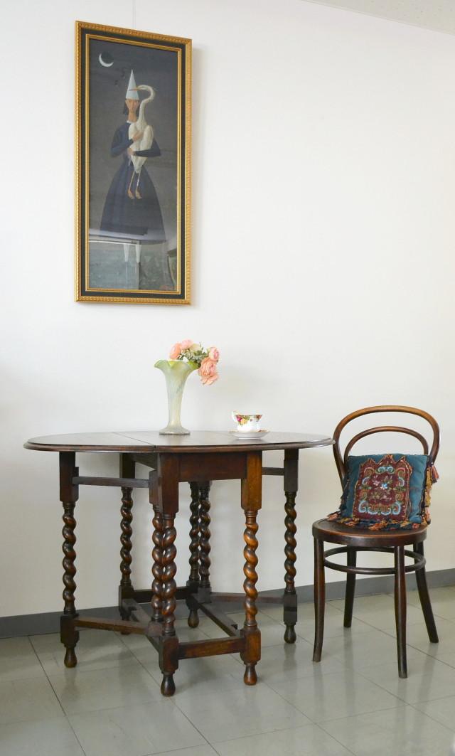 イギリスバタフライオーバルテーブル 楕円バタフライテーブル