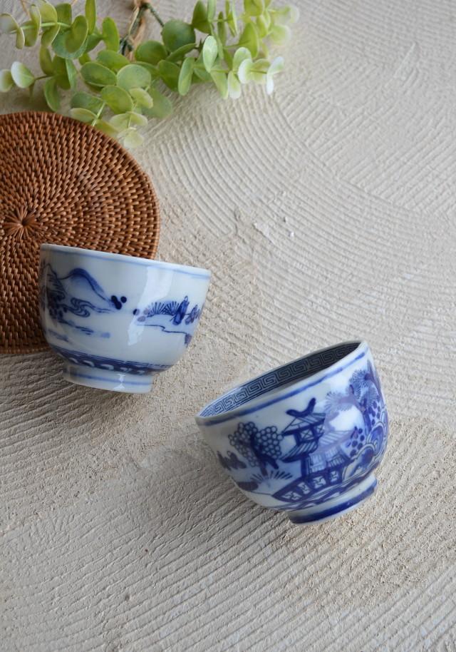 染付け手描き煎茶茶碗 向付