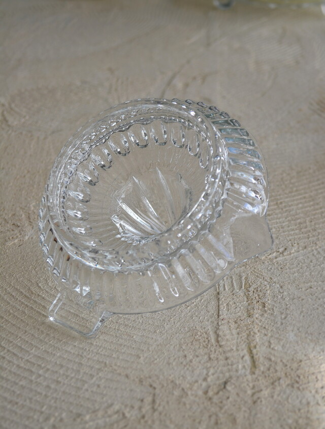 昭和レトロ ガラスの絞り器 レモン絞り