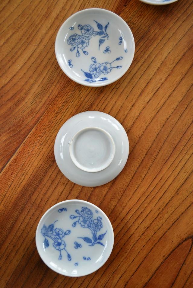 染付印判豆皿 五枚組 小皿