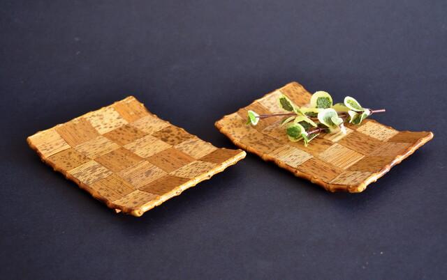 竹皮細工 菓子皿 5枚組