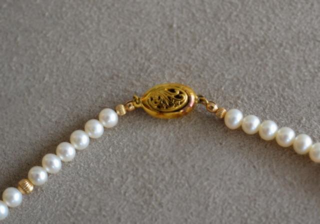 ビンテージベネチアンビーズ パールのネックレス
