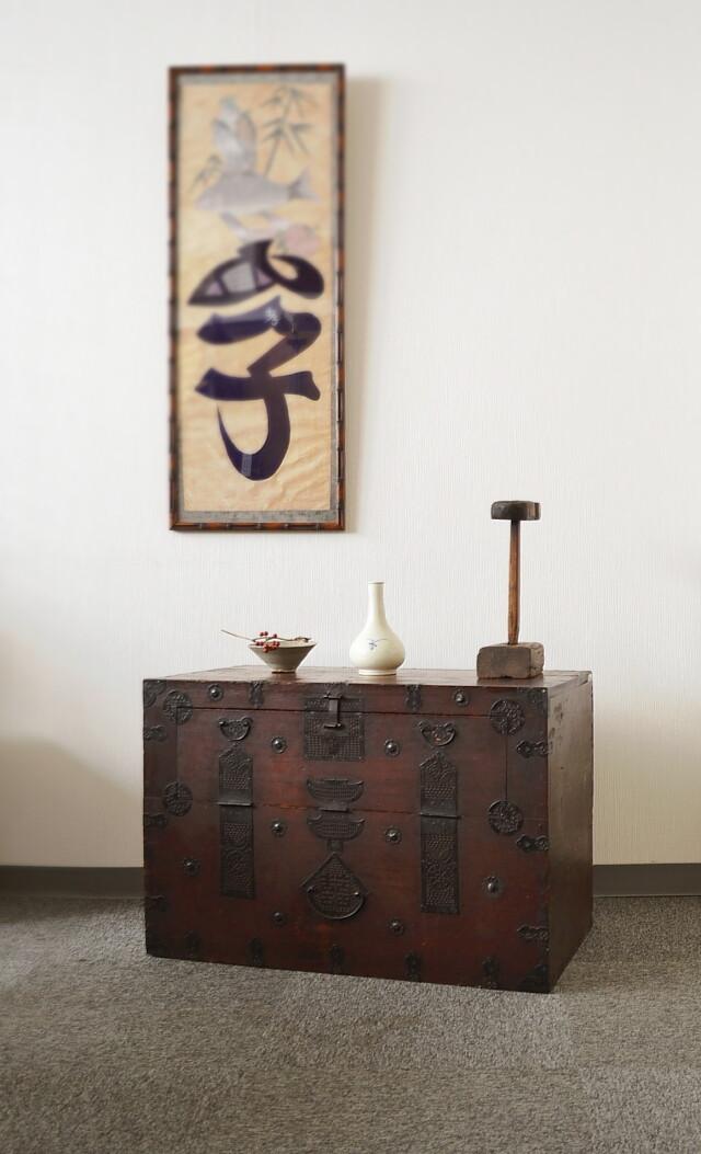 韓国アンティーク家具 李朝箪笥 バンダジ
