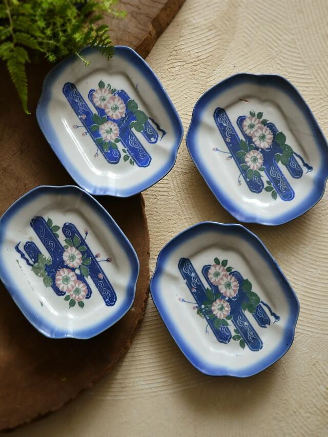 印判変形皿 4枚組