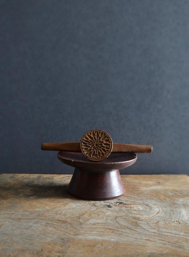 李朝木製 餅型 菓子型