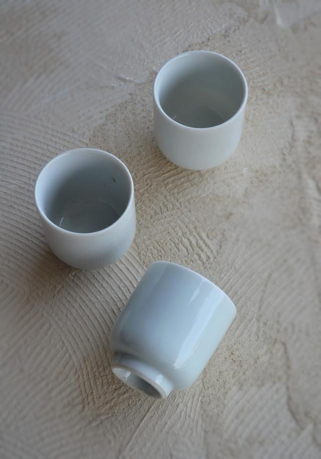 白磁湯呑 白磁酒器 白磁食器 3客組