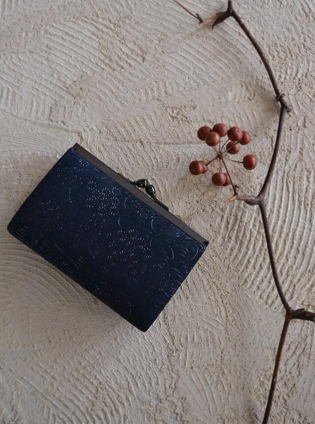 印伝がま口財布