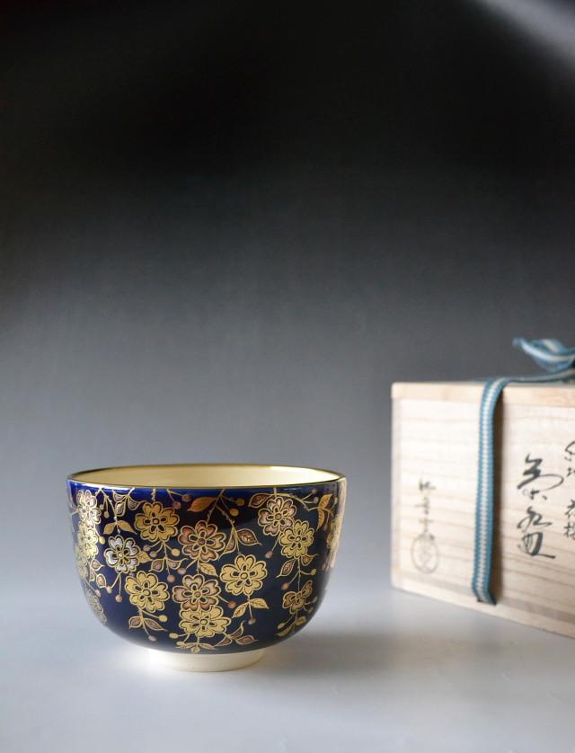 御室窯 夜桜茶碗