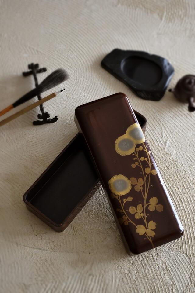 漆文箱 菊紋 古道具