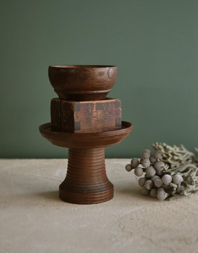 古民具三点セット 高槻・木碗・ます 古道具