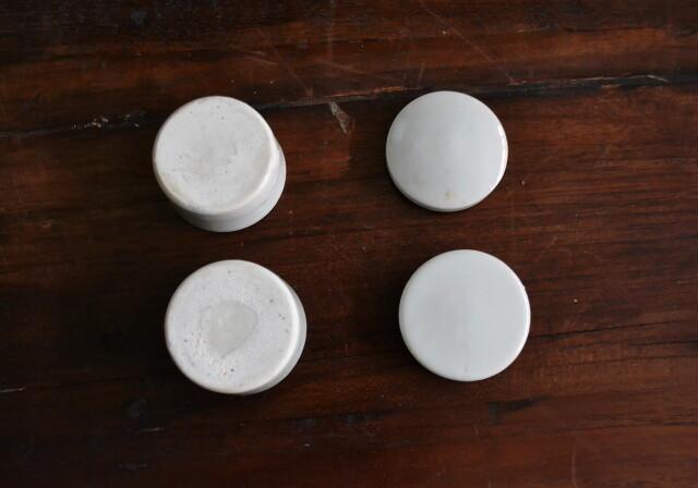 白磁蓋付ポット 小さな蓋付小物入れ 二個セット