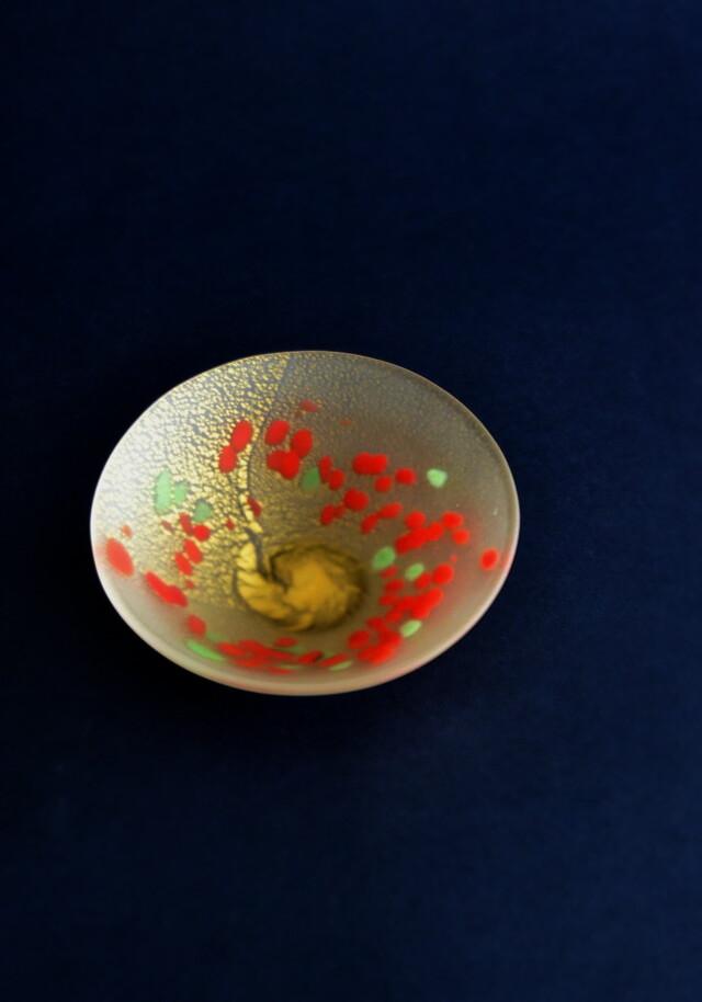 宙吹硝子 茶碗  小林貢作 茶道具 ガラス茶碗