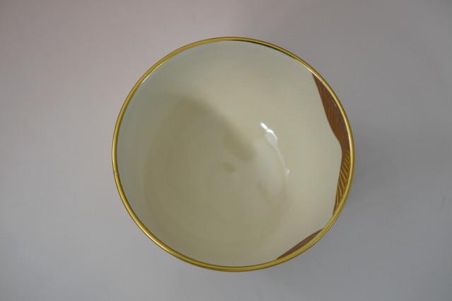通次阿山作 金銀彩日の出茶碗