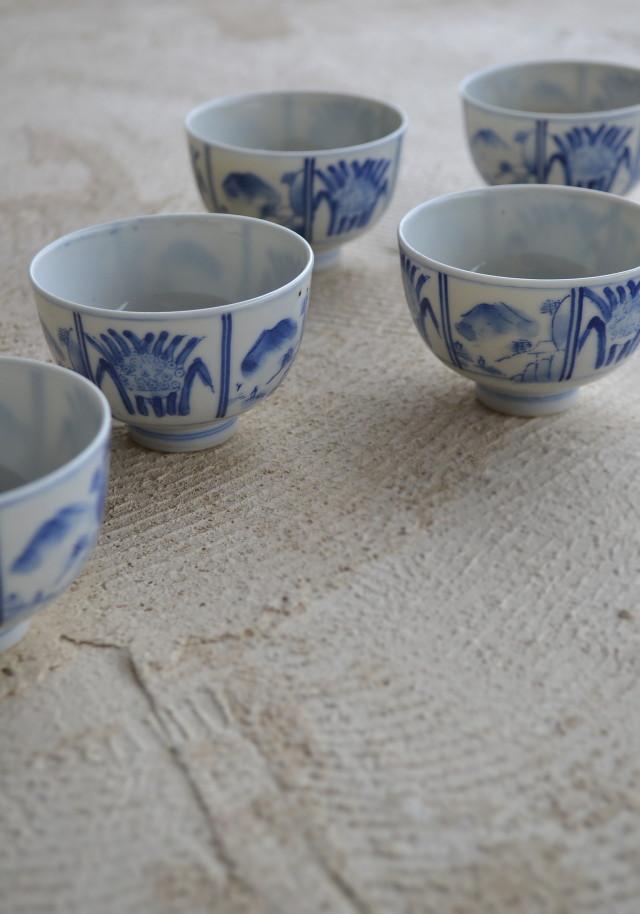 染付印判小煎茶茶碗