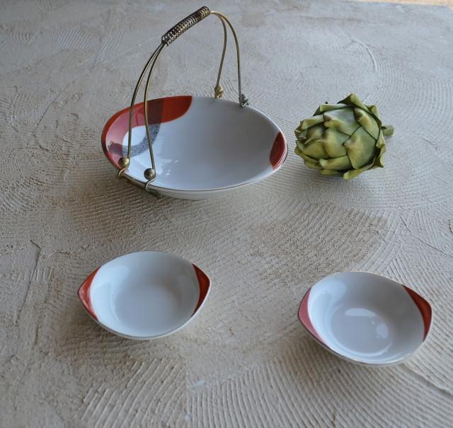 昭和レトロ ボウル ミニ取り皿付きセット
