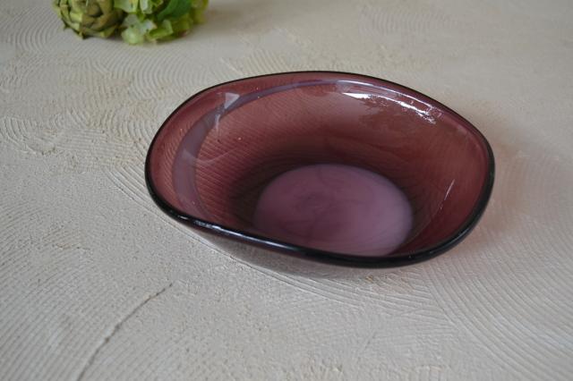 ガラス菓子器 ボウル フラワーベース