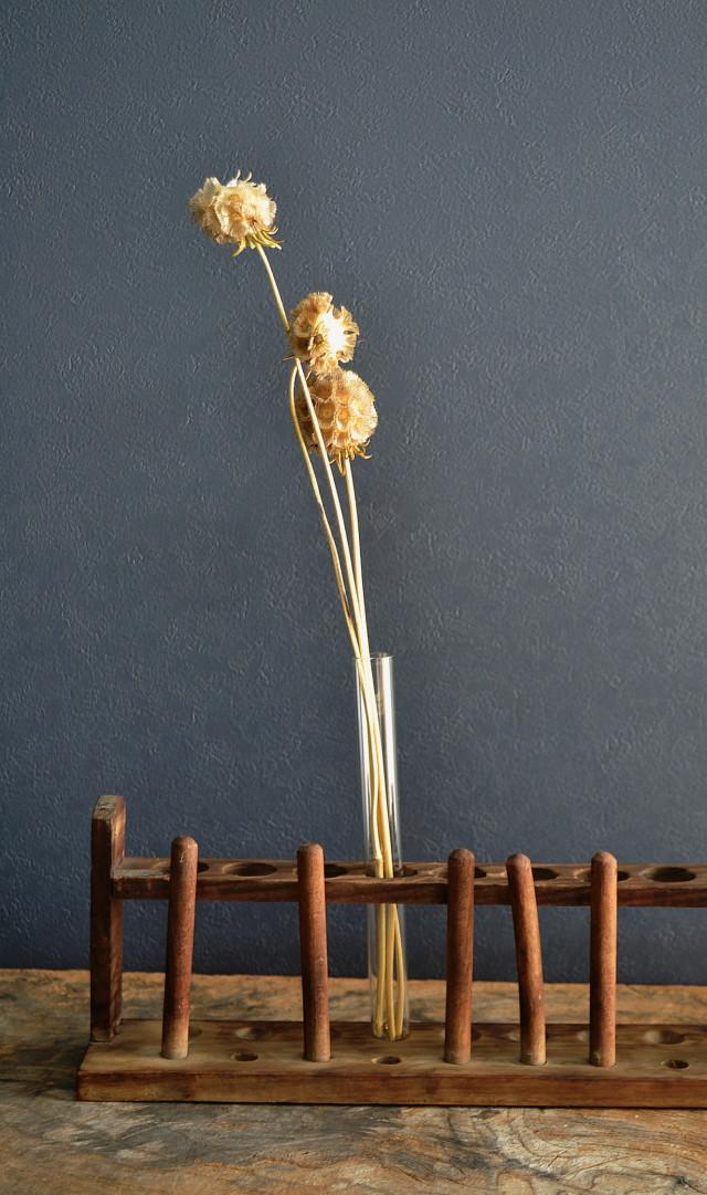 試験管スタンド 木製 アンティーク古道具