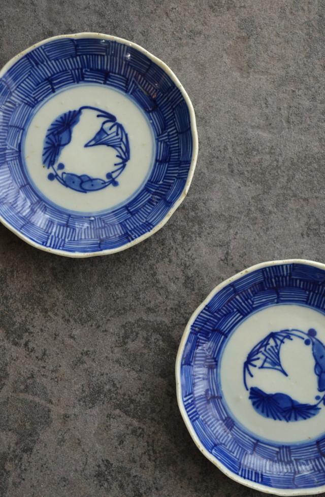 伊万里線描き小皿2枚組