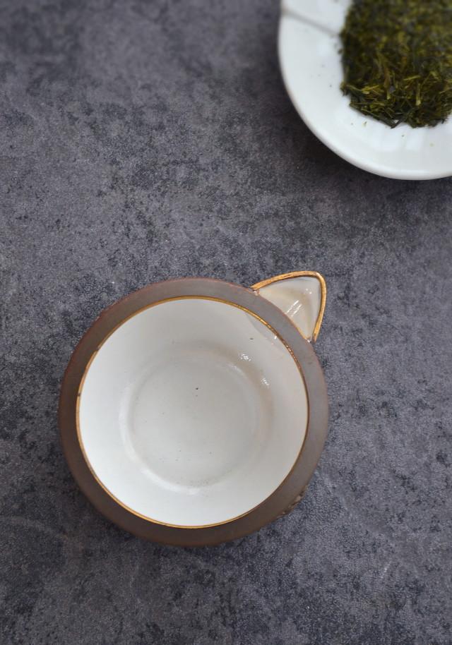 温故焼 片口湯冷まし 小鉢 蟹盆栽紋