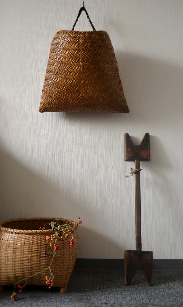 籠 竹籠 花籠背負い籠 大きな竹籠