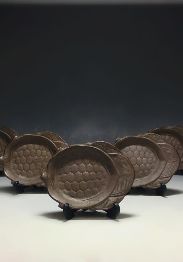 万古焼 亀型 小皿 五枚組