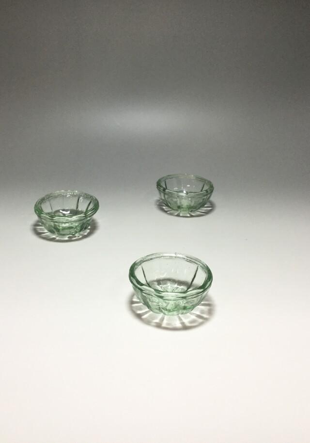 レトロなガラスゼリー型3個セット
