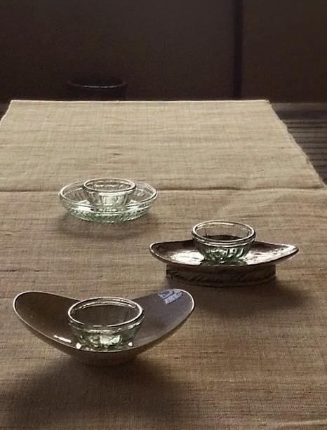 レトロなガラスゼリー型3個セット ガラス小鉢