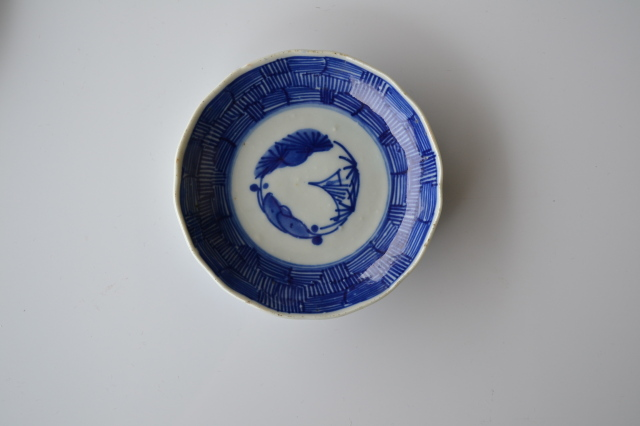 伊万里線描き小皿