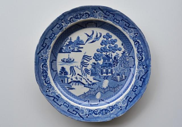 Enoch Wood &Sonウイロウ図皿