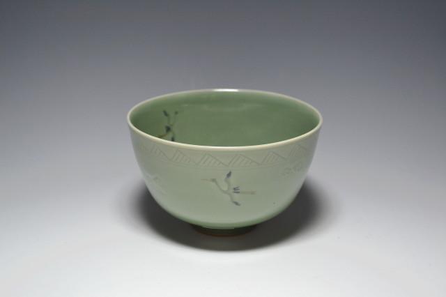平安中西啓輔作青磁茶碗
