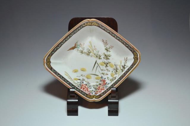 九谷焼菱型皿