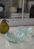 プレスガラス小皿 小鉢 ソーダガラス 二枚セット